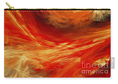 Carry-all Pouch featuring the digital art Fire Storm Abstract by Andee Design