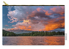 Fire Sunset Over Shasta Carry-all Pouch