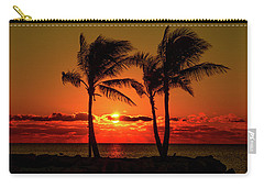 Fire Sunset Through Palms Carry-all Pouch