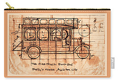 Carry-all Pouch featuring the photograph Fire Truck Bunk Bed by Larry Campbell