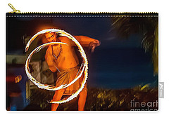 Carry-all Pouch featuring the photograph Fire Twirl by Ray Shiu