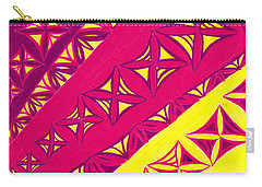 Carry-all Pouch featuring the drawing Fire Velvet Lace by Kim Sy Ok
