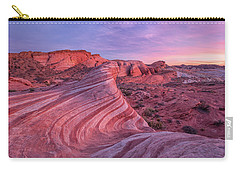 Carry-all Pouch featuring the photograph Fire Wave Evening Light by Patricia Davidson