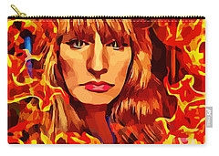 Fire Woman Abstract Fantasy Art Carry-all Pouch