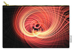 Carry-all Pouch featuring the photograph Fireball by Cathy Donohoue