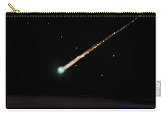 Carry-all Pouch featuring the painting Fireball by Jean Pacheco Ravinski