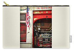 Firefighters Of New York - Engine Sweet 14 Carry-all Pouch by Miriam Danar