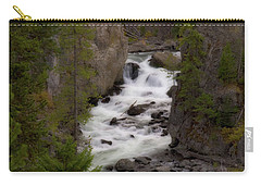 Carry-all Pouch featuring the photograph Firehole Canyon by Steve Stuller