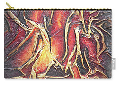 Carry-all Pouch featuring the mixed media Firelight by Angela Stout