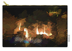 Firelogs Impasto Carry-all Pouch by Aliceann Carlton