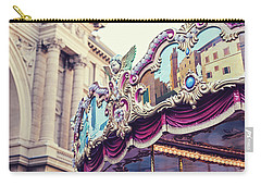 Carry-all Pouch featuring the photograph Firenze Carousel by Melanie Alexandra Price