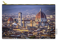 Carry-all Pouch featuring the photograph Firenze E Il Duomo by Sonny Marcyan