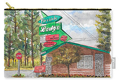 Fireside Lodge In Lake Tahoe, California Carry-all Pouch by Carlos G Groppa