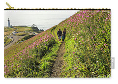 Carry-all Pouch featuring the photograph Fireweed Seascape by Nick Boren