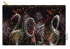 Fireworks 2018 White Stars Light Bursts Carry-all Pouch