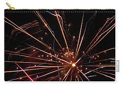Carry-all Pouch featuring the photograph Fireworks Blast #0703 by Barbara Tristan