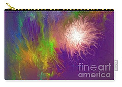 Carry-all Pouch featuring the painting Fireworks by Greg Moores