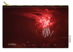 Fireworks In Red And White Carry-all Pouch