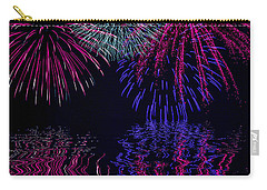 Carry-all Pouch featuring the photograph Fireworks Over Open Water 1 by Naomi Burgess