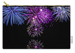 Fireworks Over Open Water 2 Carry-all Pouch by Naomi Burgess