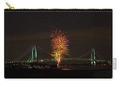 Fireworks Over The Verrazano Narrows Bridge Carry-all Pouch