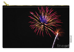Carry-all Pouch featuring the photograph Fireworks by Suzanne Luft