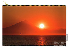 Firey Sunset On Mt Redoubt Volcano Alaska Carry-all Pouch