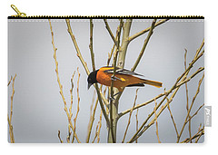 Carry-all Pouch featuring the photograph First Baltimore Oriole Of The Year  by Ricky L Jones