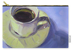 Carry-all Pouch featuring the painting First Cup by Nancy Merkle