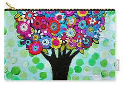 Carry-all Pouch featuring the painting First Day Of Spring by Pristine Cartera Turkus