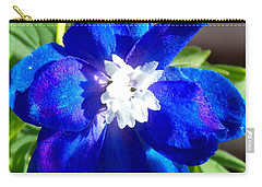 First Delphinium Agape Gardens Carry-all Pouch