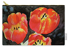 Carry-all Pouch featuring the painting First Fire by Beverley Harper Tinsley