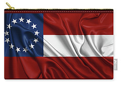 First Flag Of The Confederate States Of America - Stars And Bars 1861-1863 Carry-all Pouch