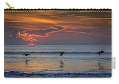 Carry-all Pouch featuring the photograph First Flight First Light by Steven Sparks
