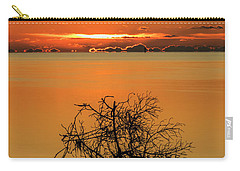Carry-all Pouch featuring the photograph First Key West Sunrise 2018 B by Bob Slitzan