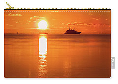 Carry-all Pouch featuring the photograph First Key West Sunrise 2018 C by Bob Slitzan