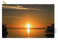 Carry-all Pouch featuring the photograph First Key West Sunrise 2018 D by Bob Slitzan