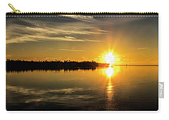 Carry-all Pouch featuring the photograph First Key West Sunrise 2018 E by Bob Slitzan