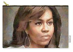 First Lady Michelle Obama Carry-all Pouch by Wayne Pascall