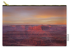 Carry-all Pouch featuring the photograph First Light At Horseshoe Bend by Marie Leslie