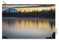 Carry-all Pouch featuring the photograph First Light At Lava Lake by Cat Connor