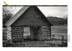 First Light At The Barn In Black And White Carry-all Pouch