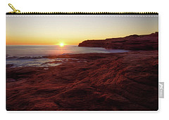 First Light On Red Sandstone Beach Carry-all Pouch