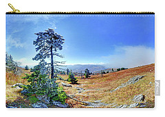 Carry-all Pouch featuring the photograph First Light Snow by George Randy Bass