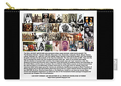 First Native Americans Were Indigo Twa Black Afrikans Carry-all Pouch