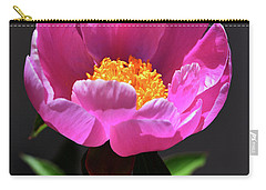 First Peony Carry-all Pouch by Skip Willits