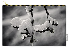 Carry-all Pouch featuring the photograph First Snow - 365-283 by Inge Riis McDonald