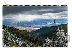 First Snow, Jackson From Teton Pass Carry-all Pouch