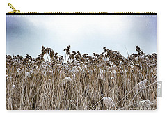First Snow On Roman Reed Carry-all Pouch