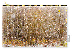 First Snow. Snow Flakes I Carry-all Pouch